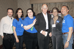 Jerry Brown and UNAC members