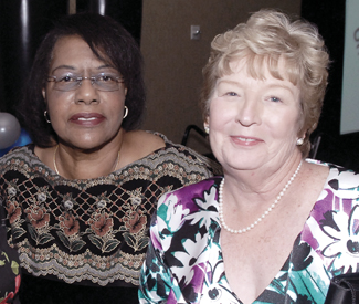 l to r: Sonia Moseley, RN, and Kathy J. Sackman, RN
